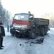 """На трассе """"Омск – Тара"""" пассажирская """"ГАЗель"""" врезалась в колесо от """"КамАЗа"""""""