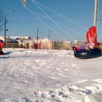 В омском парке установили зимний аттракцион