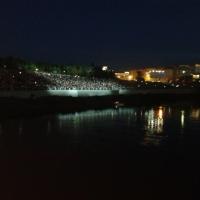 В Омске на Дне города прошло световое шоу на воде