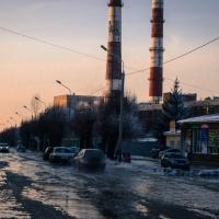 В Комсомольском городке сняли объявленный из-за прорыва трубы режим ЧС