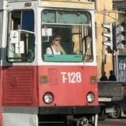 Трамваям перекрыли путь