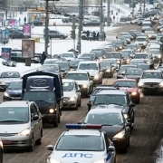 В Омске зафиксировали пробку почти в 5 километров