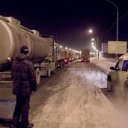 Морозы помешали движению по автодороге из Омска в Казахстан