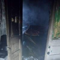 В омском селе сгорел мужчина