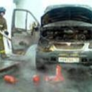Вчера в Омске загорелась маршрутка
