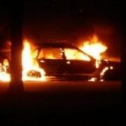 В Кировском округе сгорел пятый автомобиль
