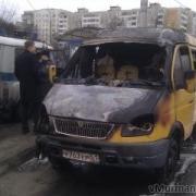 """В Омске у нефтезавода сгорела """"маршрутка"""""""