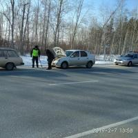Патрульная машина на трассе Омск – Черлак спасла водителя и его жену