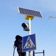 В Омске установили первый светофор на солнечных батареях