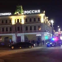 Омичи засняли президентский кортеж на Любинском