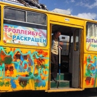 В Омске «освежают» образ общественного транспорта