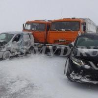 В ДТП с участием 17-ти машин на омском участке трассы Челябинск – Новосибирск никто не пострадал