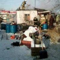 В Омске сгорел приют-хоспис для больных животных
