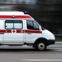 В Омске машина скорой помощи попала в ДТП