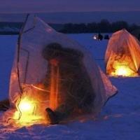 Омский рыбак в палатке отравился угарным газом