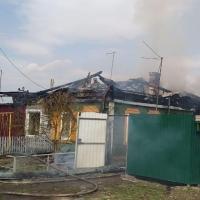 В Омске горели два частных дома