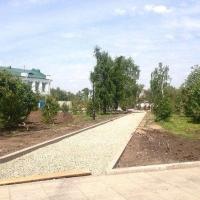 В сквере, напротив мэрии Омска, появятся уникальные дорожки