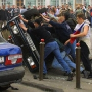 В Москве в ходе погромов задержано около 400 протестующих