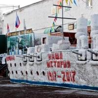 Осужденные омской колонии слепили крейсер «Аврора» (фото)
