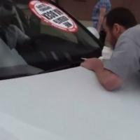 """Омский """"стопхамовец"""" после поездки на капоте Audi пожаловался на побои"""