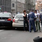 В Омске полицейский сбил пешехода