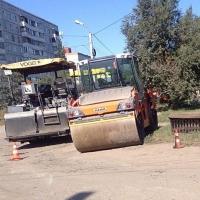 В Омске начали ремонтировать улицу Гагарина