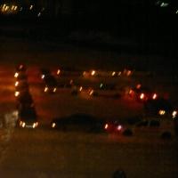 Омские таксисты устроили новогодний флешмоб