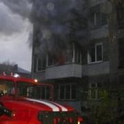 Ранним утром в Омске горела пятиэтажка