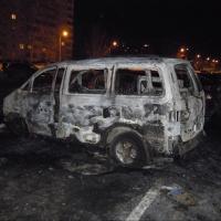 В центре Омска сгорели два автомобиля