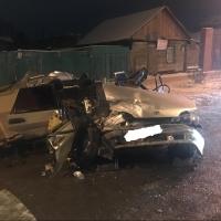 В Омске пьяный водитель без прав разбил «пятнадцатую» об «Тойоту»