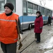 В Омске трамвай столкнулся с автобусом
