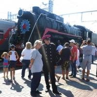 В День города омичам показали железнодорожную ретротехнику
