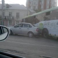 В Омске произошло ДТП с участием автобуса