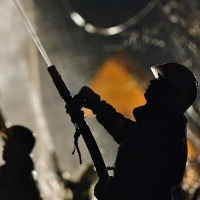 В Омске сгорела мастерская по изготовлению памятников