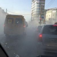 Очевидцы: Из-за мороза центр Омска затопило кипятком