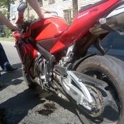 В Омске произошла ещё одна авария с участием мотоцикла