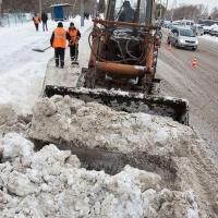 За сутки из Омска вывезли 7 тысяч кубометров снега