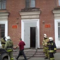 В омском военкомате случился пожар из-за компьютера