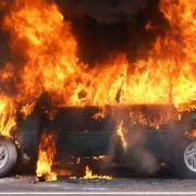 В Ленинском округе сгорел автомобиль