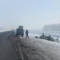 В лобовом столкновении на трассе в Омской области погиб водитель ВАЗа