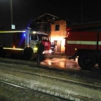 В Омске на улице Лермонтова сгорел дом