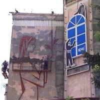 В Омске реставрируют картину «Материнство» на жилом доме гостевого маршрута