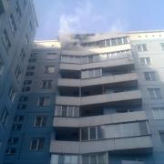 В пожаре на улице Малиновского пострадал юный омич
