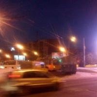 В центре Омска из-за троллейбусов образовалась пробка