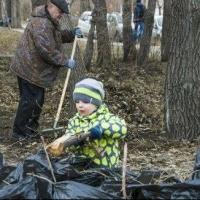 В Омске в месячнике чистоты приняли участие уже более 100 тысяч горожан