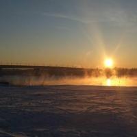 Выход на лед в Омске опасен