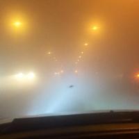 Туман на Ленинградском мосту заставил омичей поволноваться