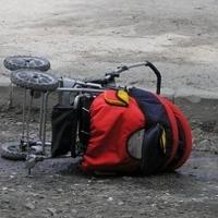 На Левобережье иномарка наехала на коляску с двухлетним ребенком