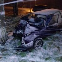 В Омске после столкновния с деревом водитель и его пассажирка попали в больницу