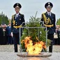В омском Парке Победы зажгли кремлевский Вечный огонь
